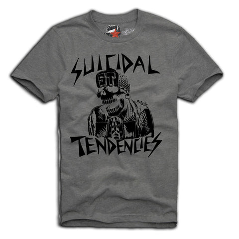 SUICIDAL TENDENCIES T-SHIRT S-XL  PUNK HARDCORE ROCK GREY