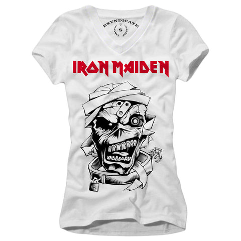 IRON MAIDEN WOMAN T-SHIRT HEAVY METAL ACDC  ROCK S-L