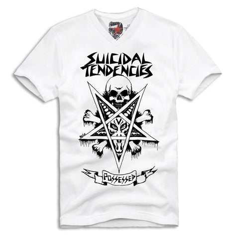 SUICIDAL TENDENCIES - POSSESSED V-NECK T-SHIRT  S-XL PUNK HARDCORE ROCK