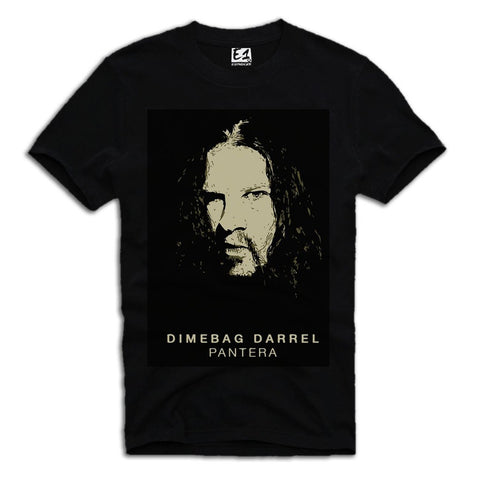 E1SYNDICATE T-SHIRT PANTERA DIMEBAG DARRELL BLACK Sz. S-XL