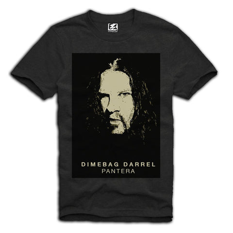 E1SYNDICATE T-SHIRT PANTERA DIMEBAG DARRELL DARK GREY Sz. S-XL