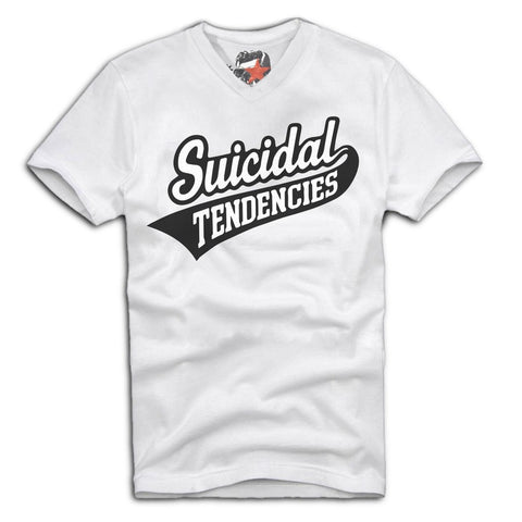 E1SYNDICATE V-NECK T-SHIRT SUICIDAL TENDENCIES  THRASH METAL BAND MERCH  Sz. S-XL