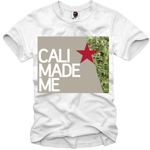 T-SHIRT CALI MADE SATIVA INDICA KUSH GANJA WEED BONG DOPE LAST KINGS S-XL