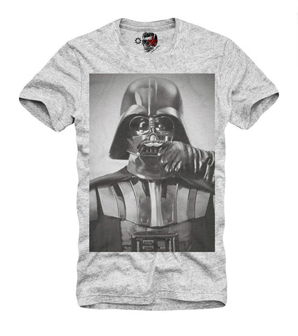 T-SHIRT DARTH VADER SELFIE STORMTROOPER TROOPER YODA WOOKIE DJ GREY S-XL