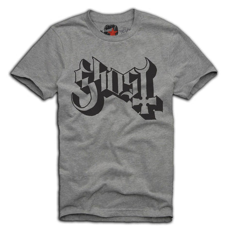 E1SYNDICATE T-SHIRT GHOST B.C. EMERITUS BAND MERCH GREY Sz. S-XL
