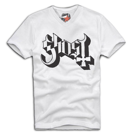 E1SYNDICATE V-NECK T-SHIRT GHOST B.C. EMERITUS BAND MERCH  Sz. S-XL