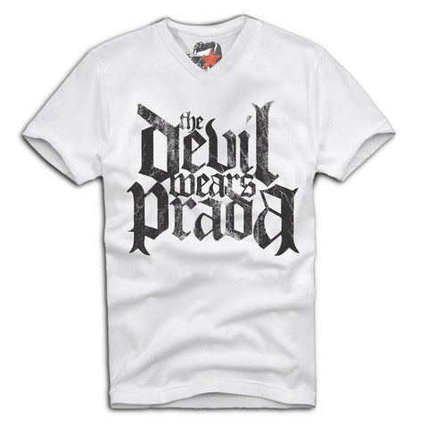 E1SYNDICATE V-NECK T-SHIRT THE DEVIL WEARS PRADA CHRISTIAN METALCORE  Sz. S-XL