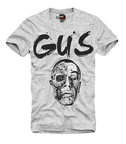 T-SHIRT GUS BREAKING BAD LOS POLLOS HERMANOS LAB HEISENBERG HBA GREY S-XL