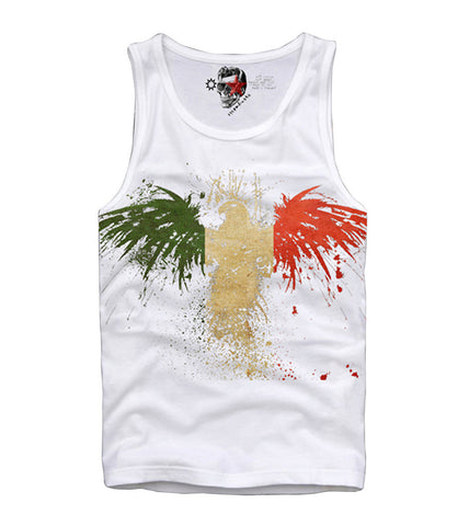TANK TOP SHIRT ITALIEN ITALY EAGLE FLAG NEW T S-XL