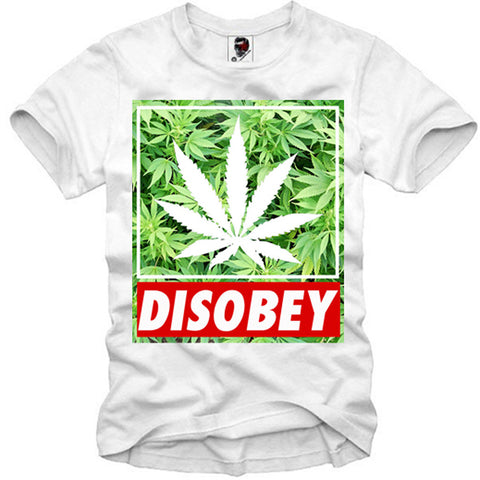 T-SHIRT DISOBEY WEED GANJA DIAMOND SUPPLY V12 LAST KINGS DOPE S-XL
