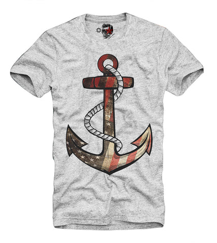 T-SHIRT ANCHOR HIPSTER BLOGGER VINTAGE USA N60 DJ (L S-XL