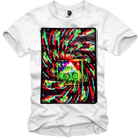 T-SHIRT ALBERT HOFMANN LSD 2000 BLOTTER ACID BIKE RIDE MDMA LSA DJ S-XL