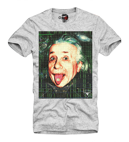 T-SHIRT ALBERT EINSTEIN LSD MDMA ECSTASY TUNE IN DISOBEY DOORS DJ Grey S-XL