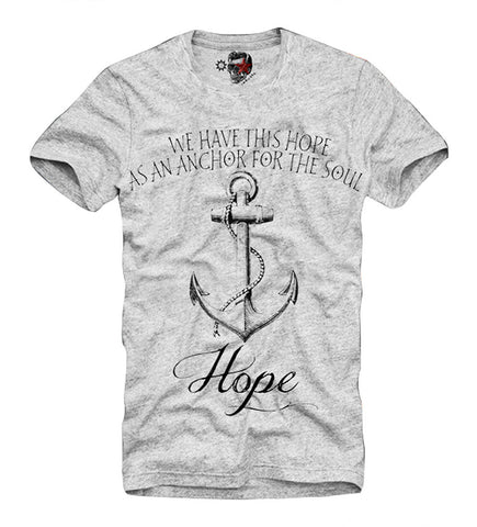 T-SHIRT ANCHOR SAILOR TATTOO ROCKABILLY HIPSTER BLOGGER DJ GREY S-XL