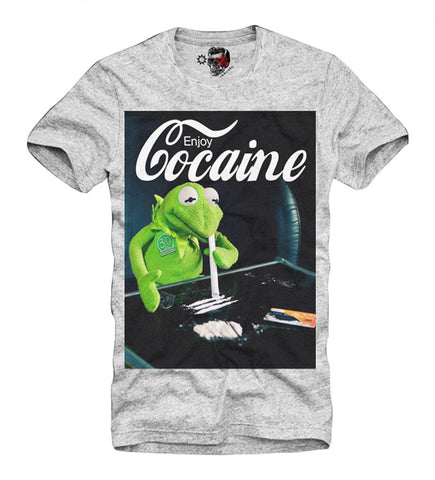 T-SHIRT BOYS NIGHT OUT KOKAIN COCAINE DOPE LAST KINGS GREY S/M/L/XL