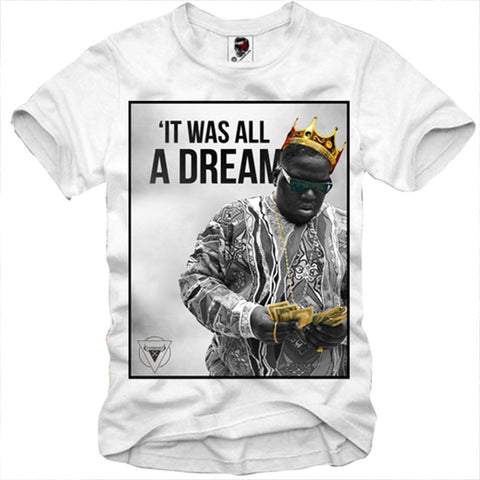 T-SHIRT NOTORIOUS B.I.G ALL A DREAM 2 PAC NWA S/M/L/XL