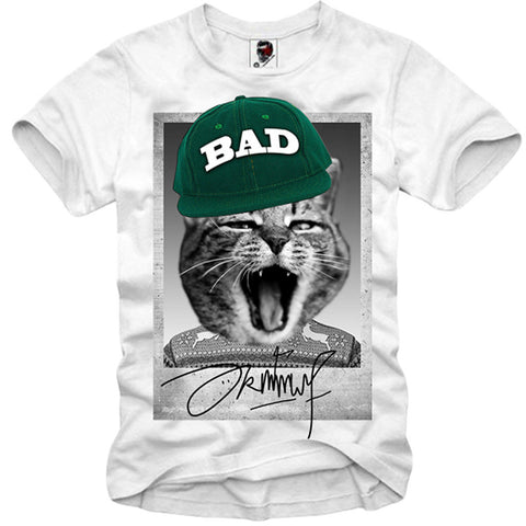 T-SHIRT BAD PUSSY CAT PARIS LONDON BASEBALL ELEVEN HIPSTER S/M/L/XL