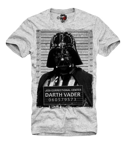 T-SHIRT DARTH VADER MUGSHOT YODA DJ DEATHSTAR JEDI GREY S/M/L/XL