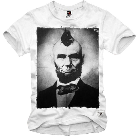T-SHIRT ABRAHAM LINCOLN HIPSTER PRESIDENT DISOBEY CALI WEED PUNK S/M/L/XL