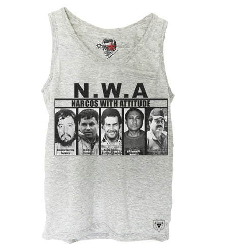 GREY TANK TOP SHIRT NWA NARCOS PABLO ESCOBAR EL CHAPO COCAINE KOKS S-XL