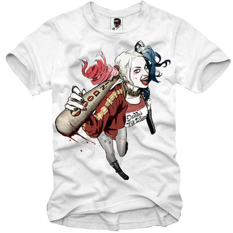 T-SHIRT HARLEY QUINN JOKER SUICIDE SQUAD SEXY NAUGHTY PIN UP S-XXL