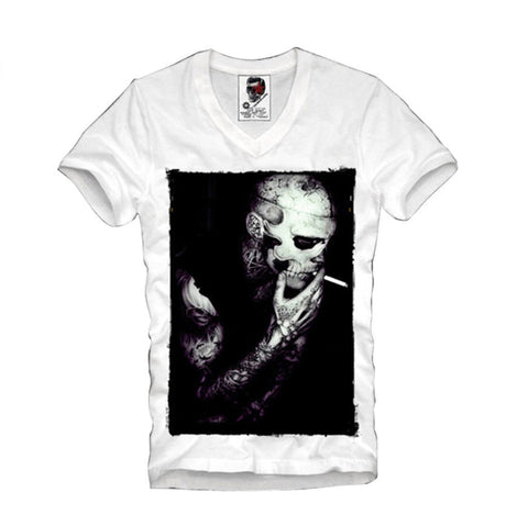 V-NECK T-SHIRT WASTED YOUTH ZOMBIE WALKING DEAD ELEVEN HYPE S-XL