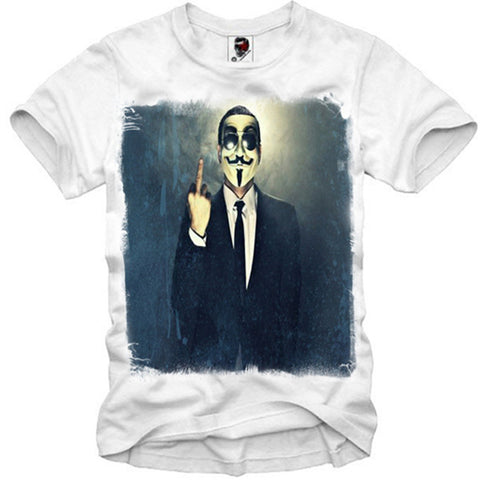 T-SHIRT GUY FAWKES VENDETTA ANONYMOUS SUPREME BLOGGER HYPE S-XL