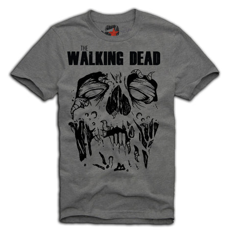 E1SYNDICATE T-SHIRT THE WALKING DEAD RICK GRIMES DARYL DIXON BREAKING GREY Sz. S-XL