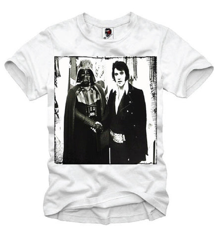 T-SHIRT DARTH VADER X ELVIS MEET AND GREET AND ELEVEN S-XL
