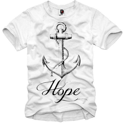 T-SHIRT ANCHOR SAILOR HOPE LONDON BOY ELEVEN ANKER HBA S-XL
