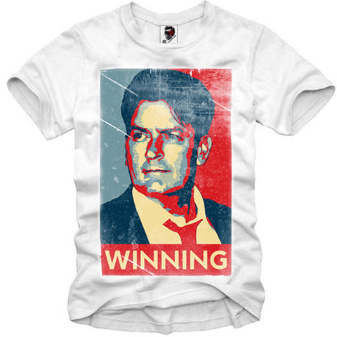 T-SHIRT CHARLIE SHEEN FOR PRESIDENT SUPREME DISOBEY FUCT S-XL