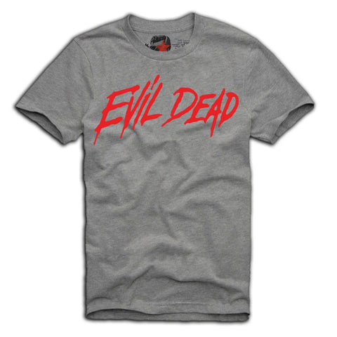E1SYNDICATE T-SHIRT EVIL DEAD ZOMBIES SWAG DOPE WASTED YOUTH MOVIE GREY Sz. S-XL