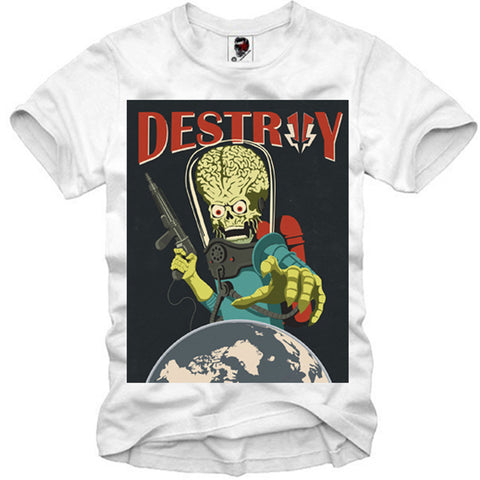 T-SHIRT ALIEN INVASION SWAG DOPE WASTED YOUTH LAST KINGS S-XL