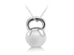 EMPWR'D LIFE GRAND KETTLEBELL CHARM WITH SILVER CHAIN