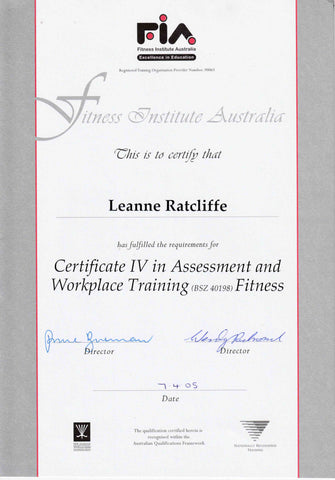 leanne ratcliffe freelee certification FIA 3