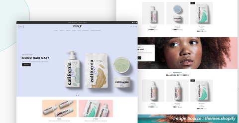 Shopify Envy theme : A complete style ideal for regular promotions and featured products for luxury Niches