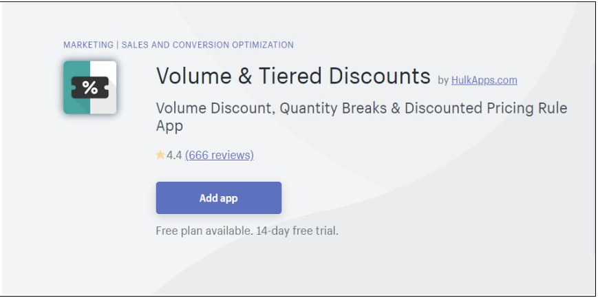 Volume and Tiered Discount App