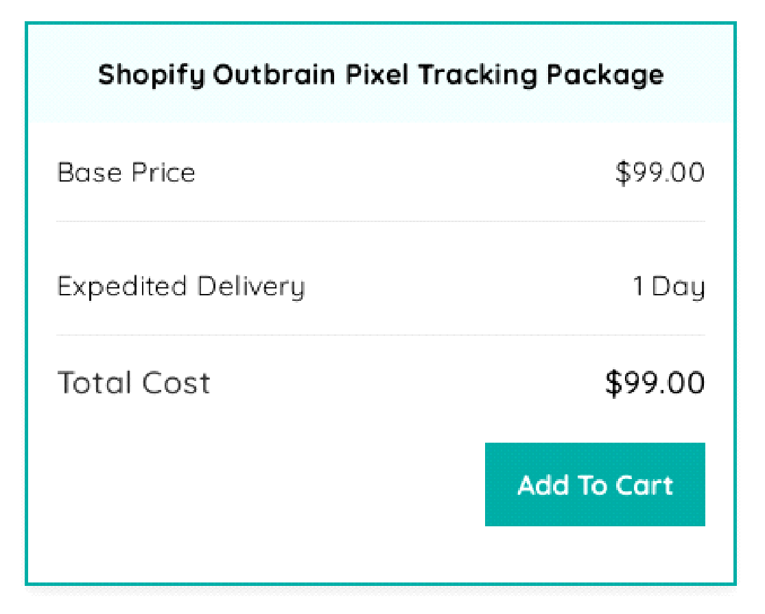 Shopify Outbrain