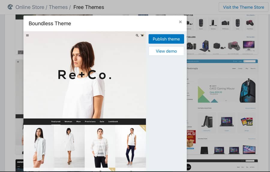 Perfect theme for store