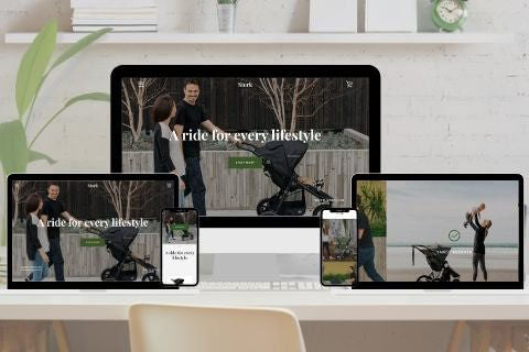 Modern template with a minimalist style - Shopify Narrative theme
