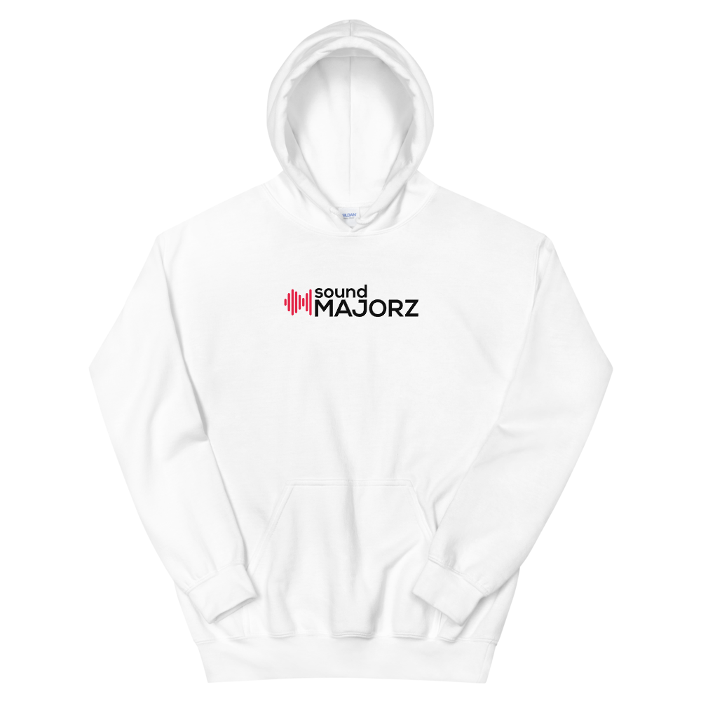 White Unisex soundMajorz Hoodie - Sweater - SoundMajorz | Vybe & DiMuro Kits, Samples, Loops, MIDI Files & More - Buy & Download