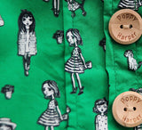 Green Dolls Vintage Dress (*exclusive graphics)
