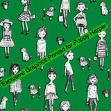 Green Dolls Convertible Skirt- exclusive graphics (size 1)