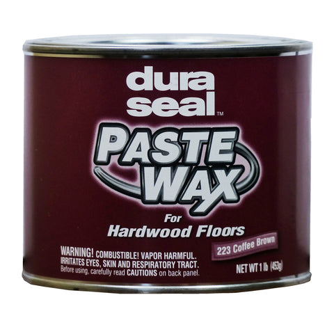 Hardwood Paste Wax, Coffee Brown, by Dura Seal - 1 lb. Can