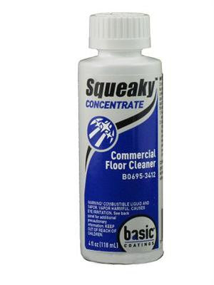 squeaky clean hardwood and laminate floor cleaner 4 oz concentrate makes one spray bottle