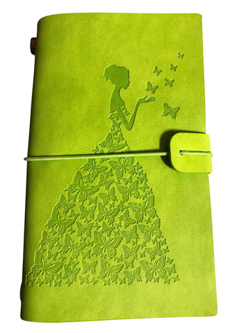 1 Green Butterfly Girl Travel Prayer Journals, 2 Paper Refills