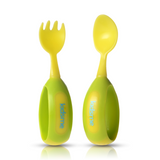 Toddler Fork & Spoon Set - Lime