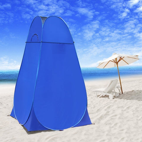 Wolfwise Pop-Up Shower Tent Blue