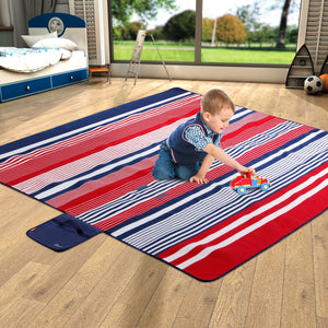 WolfWise Red Outdoor Picnic Blanket