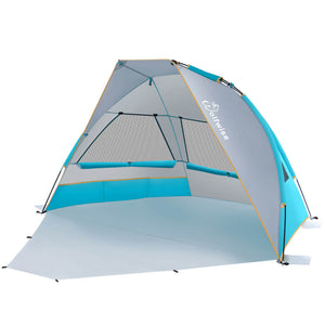 Wolfwise Portable Beach Canopy Tent, blue